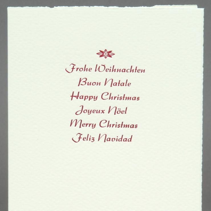 International Weihnachtsgrüße rot