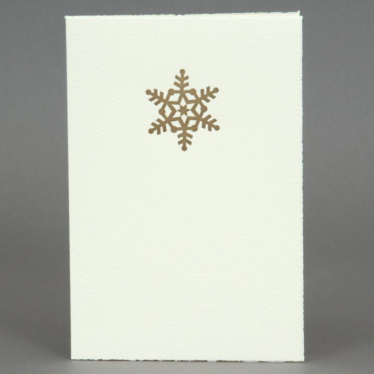 Gold Schneeflocke