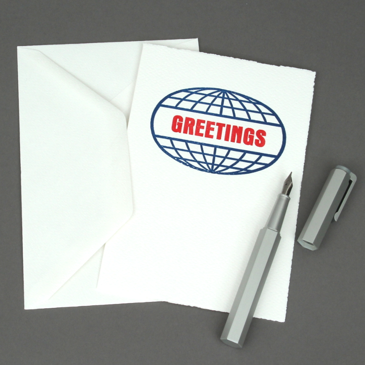 #1: Welt Greetings, auf weiss