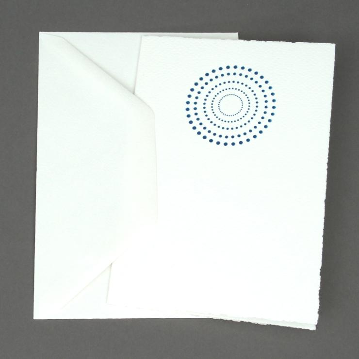 #15: Kreis, blau auf weiss