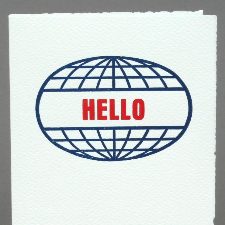 #2: Welt Hello, auf weiss