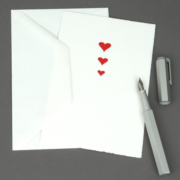 #28: Herzen, rot auf weiss