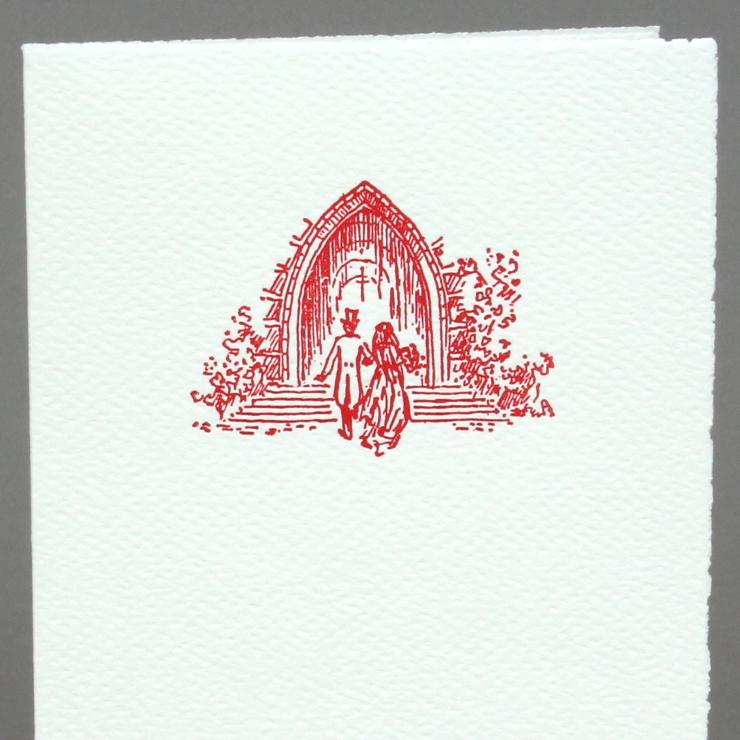 #32: Kirche, rot auf weiss