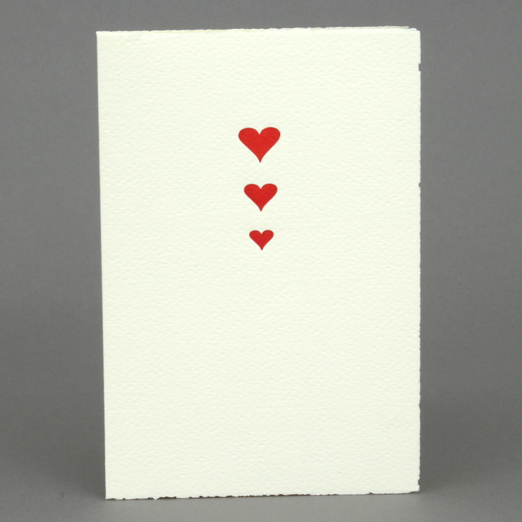 #29: Herzen, rot auf creme