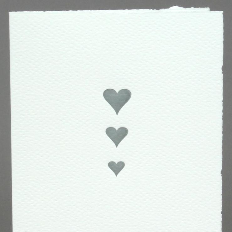 #30: Herzen, silber auf weiss