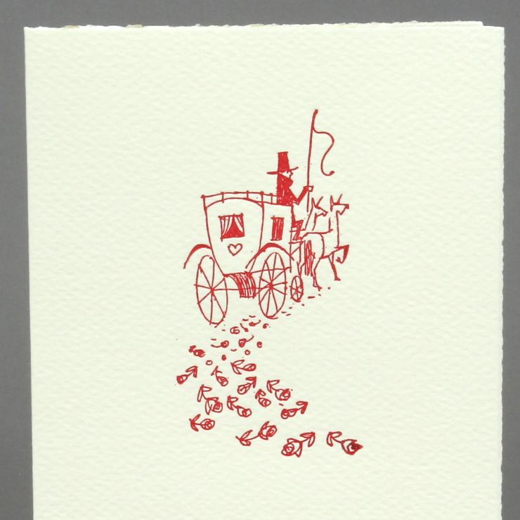 #36: Kutsche, rot auf creme