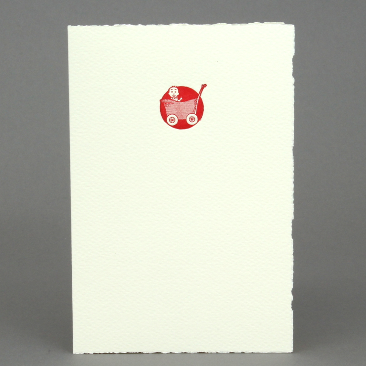 #42: RetroBaby, rot auf creme