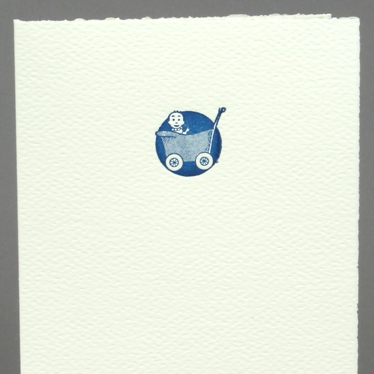 #44: RetroBaby, blau auf creme